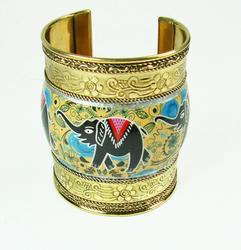 Fantastic Detailed Ethnic Art Handmade Cuff Bracelet