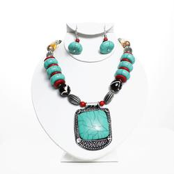 Charming Ethnic Tribal Handmade Beaded Necklace Set