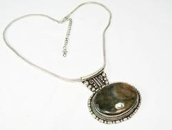 Attractive Large Natural Stone Ethnic Handmade Necklace