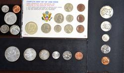 BU Year Set Lot, US1956, 1961, 1968 and Canada1966