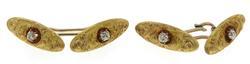 Vintage 18kt Cufflinks with Diamond