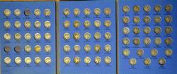 MERCURY DIME BOOK COMPLETE LESS 1916-D -1921 & 1921-D