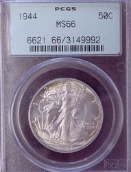 1944 MS66 50c, PCGS OGH