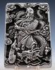 Tibetan Crafted Warrior God Guan Yu & Dragon Pendant