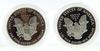 1986 S & 2000 P Proof Silver Eagles with Boxs and Paper