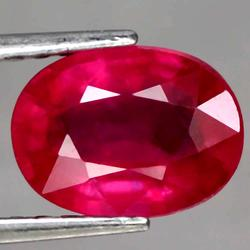 Vivid 3.20ct Imperial red oval cut Ruby