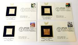 4 Celebrate the Century 1st Day Issues & 22KT Stamps