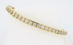 Classic Channel Set Diamond Tennis Bracelet