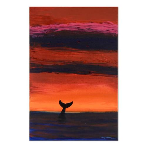 Sunset Whale by Wyland Original