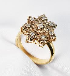 Pretty Multi-Diamond Ring in 10K
