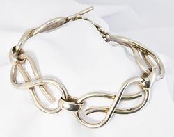Bold Men's/Women's .925 Silver Infinity Bracelet