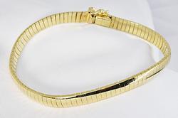 Sharp Flexible Bangle Bracelet in 14K