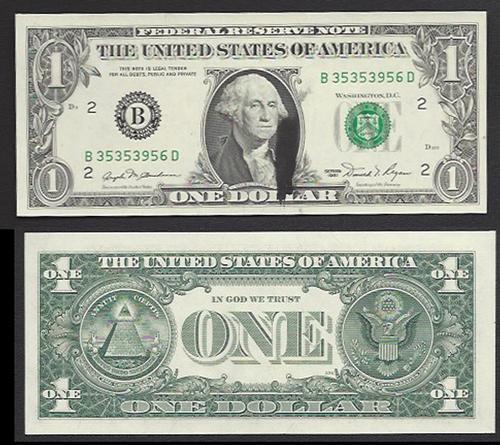 $1 1981 Major Ink Smear Choice Crisp Uncirculated