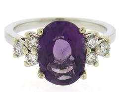 Fantastic Amethyst and Diamond White Gold Ring