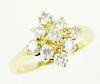 Very Fine Vintage 14K Multi-Diamond Ring, Size 8