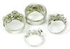 4 Exceptional Sterling CZ Rings