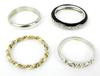 4 Sterling Silver Stacking Bands