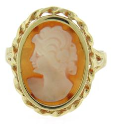 Popular 14kt Yellow Gold Cameo Ring