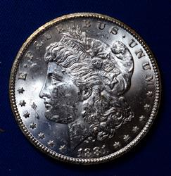Choice Frosty White BU 1881 CC From A Near Full Set of Morgans