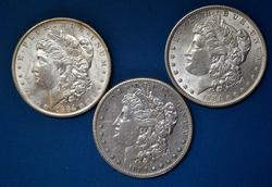 1884 And 1884 O & S Morgans From A Near Full Set of Morgans