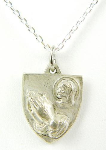 Vintage Sterling Protestant Medal/Pendant & Chain