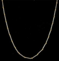 18KT Yellow & White Gold Necklace