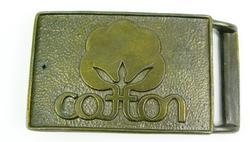 Vintage Cotton Logo Advertising Belt Buckle