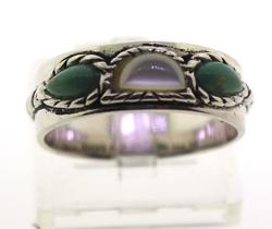 Sterling Silver Signed Gemstone Ring
