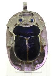 Vintage Sterling Silver Bug Pendant
