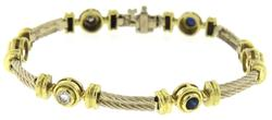 Fantastic 18kt Sapphire and Diamond Station Bracelet