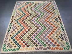 Decorative Multi Color Hand knotted Kilim Wool 5 x 7