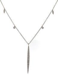 Dazzling Diamond Bar White Gold Necklace