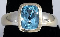 Fun Blue Topaz Ring in 14KT White Gold