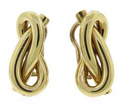 Elegant 18kt Knot Earrings