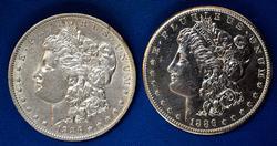 1886 O & 1886 S Morgans From A Near Full Set of Morgans
