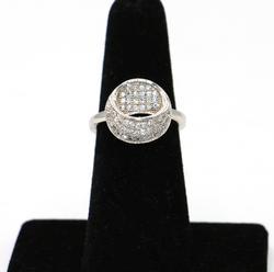 Modern Sterling Silver Circle Ring