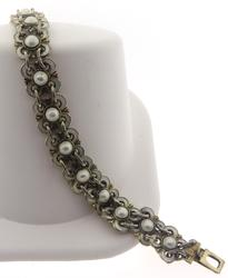 David Anderson White Enamel Bracelet