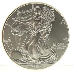 2013 Choice Frosty White BU Silver Eagle
