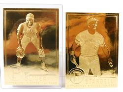 2 - 22KT Gold Foil Pirates Baseball Cards