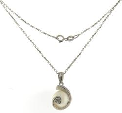 Charming Cultured Pearl & Diamond Pendant Necklace