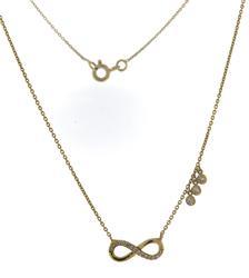 Pretty Diamond Infinity with Bezel Dangle Necklace