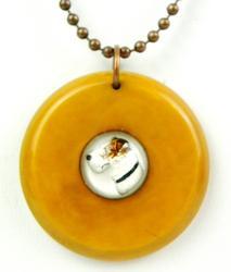 Vintage Bakelite & Crystal Essex Dog Necklace