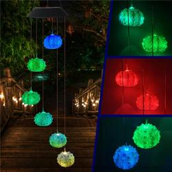 Solar Powered Wind Chime Light LED