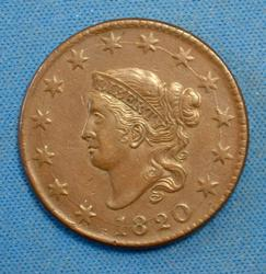 1820 LARGE CENT LARGE DATE CIRC.