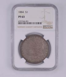 PF63 1884 Morgan Silver Dollar - Graded by NGC