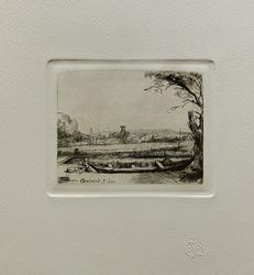 REMBRANDT Amand Durand Signed Etching CANAL