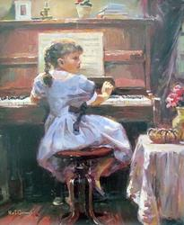 GARMASH Music Lesson Hand Signed Giclee