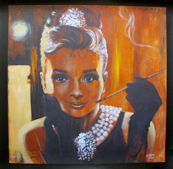 FISHWICK ?BREAKFAST? AUDREY HEPBURN Hand Signed