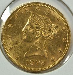 Flashy BU 1893 US $10 Liberty Gold Piece
