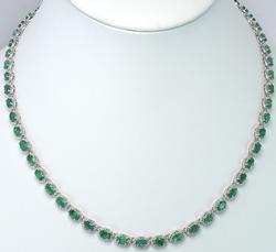 Magnificent Natural Emerald & Diamond Necklace